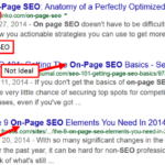 """Page Title"" is one of the most popular technique in On Page SEO."