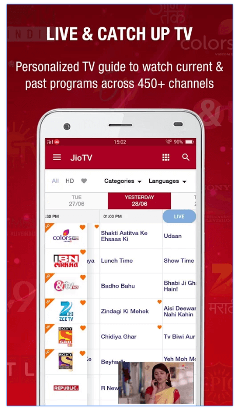 JioTV Live Sports Movies Shows android app