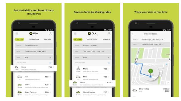 Ola Lite android app