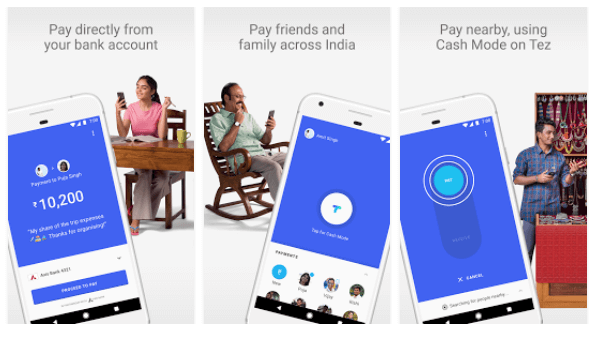Tez – A new payments app by Google image