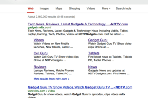 google indexed site