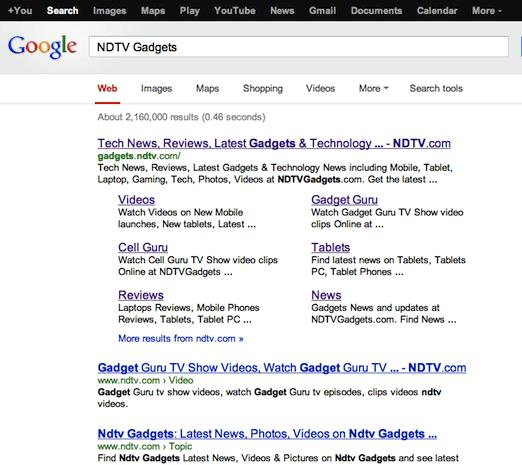 google indexed site
