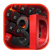 3D Black Red Keyboard android app logo