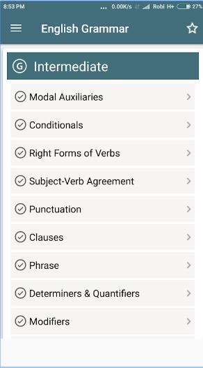English Grammar Complete Handbook android app