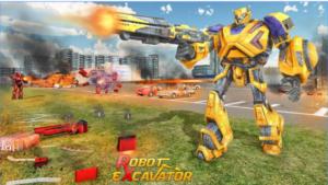 Excavator Robot Transformation Robot Transforming android app