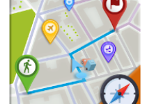 GPS Maps, Directions - Routes Tracker android app logo