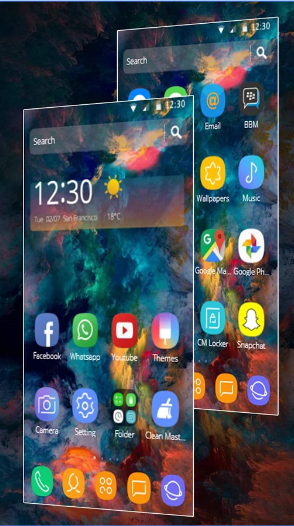 Galaxy Star Succinct Simple Theme android app