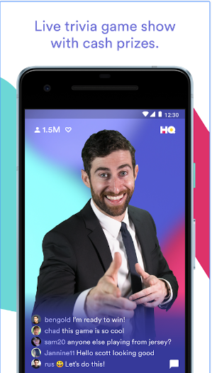 HQ Trivia android app