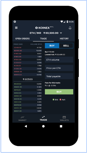 Koinex India's largest digital assets exchange android app