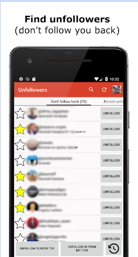 Unfollowers for Instagram - followers analytics android app