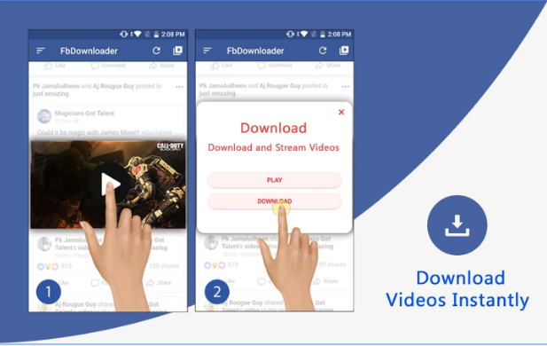 "26ca165f8104c5 New Android App ""Video Downloader for Facebook"" Download Apk ..."