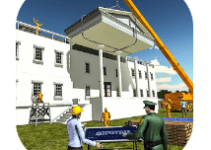 White House Building Construction Games City Build android app logo