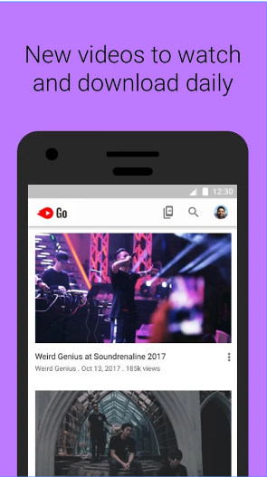 YouTube Go android app