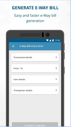 e-Way Bill Generate & Share e-Way Bill android app