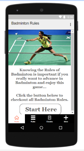 Badminton Rules android app
