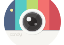 Candy Camera - selfie, beauty camera, photo editor android app logo