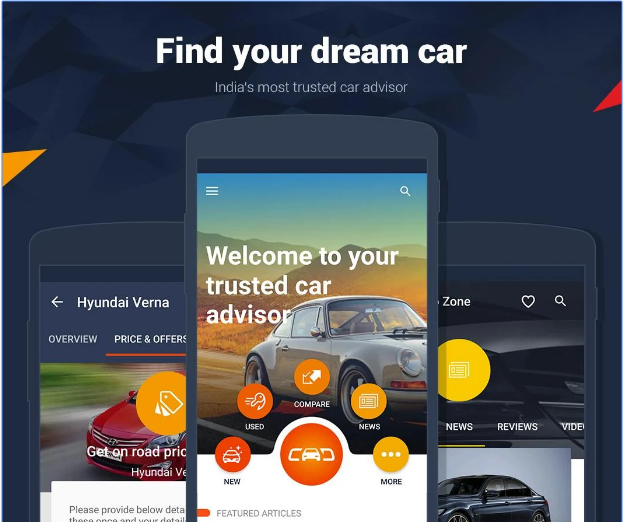 Cars India - Buy new, used car android app