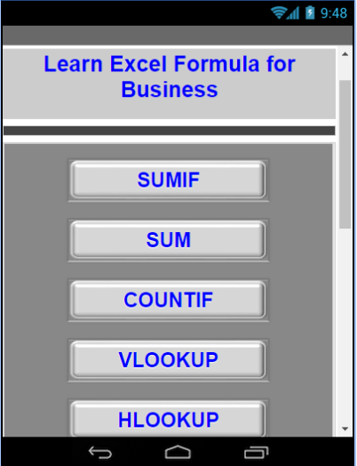 Excel Formula for Business android app