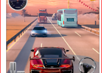 Extreme Speed Race Highway Traffic game logo
