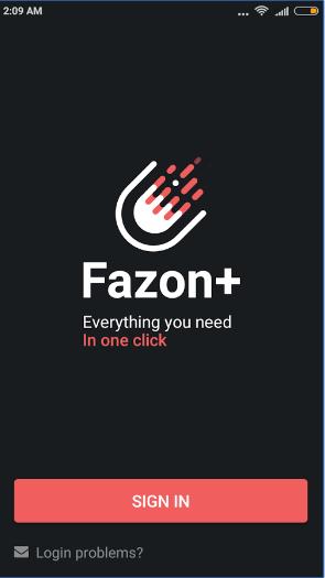 Fazon+ android app