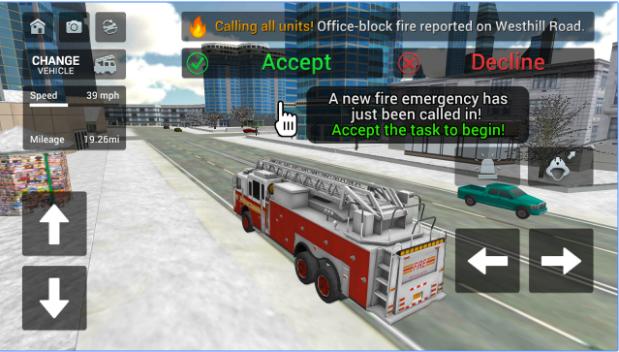 Fire Truck Rescue Simulator android appl