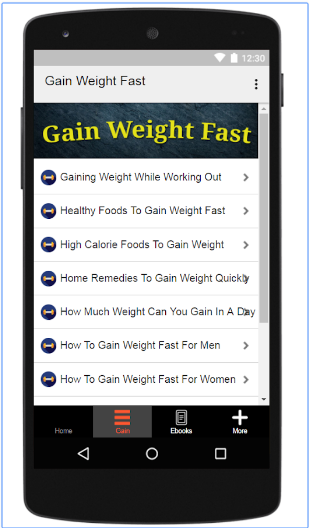 How To Gain Weight Fast android app