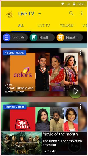 IDEA Mobile TV, Live TV Online
