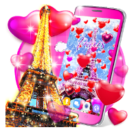 New paris love live wallpaper bandroid app logo