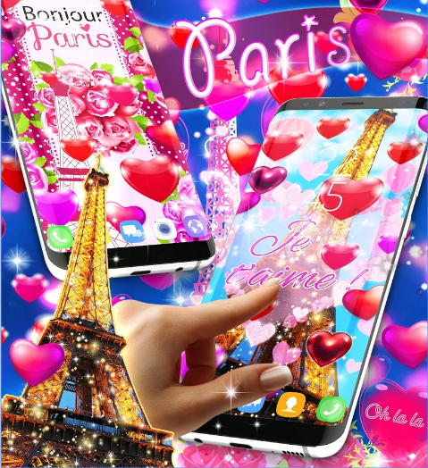 New paris love live wallpaper bandroid app