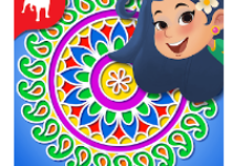 Rangoli Rekha Color Match 3 android app logo