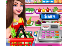 Shopping Mall Cash Register Girl Cashier Games android app logo