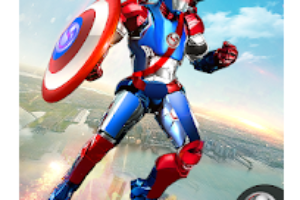 Super Captain Flying Robot City Rescue Mission android app Logo