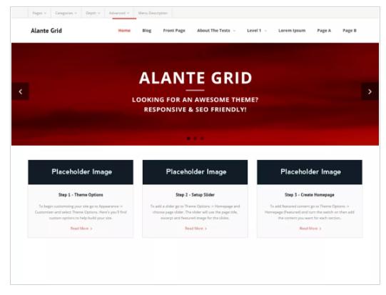 Alante Grid WordPress Theme