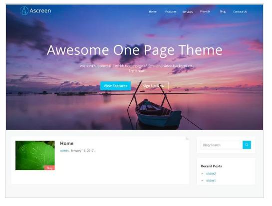 Ascreen WordPress Theme