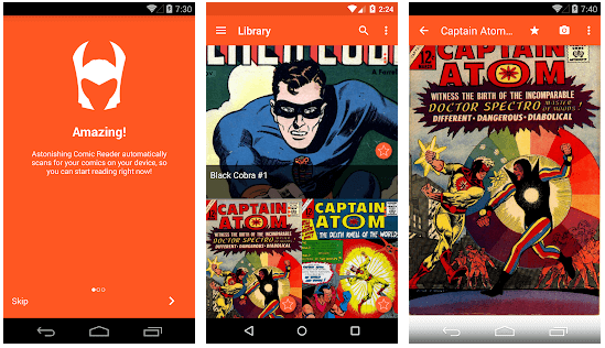 Astonishing Comic Reader android app