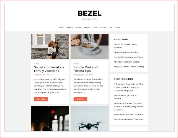 Bezel WordPress Theme