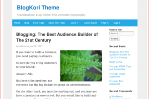 BlogKori WordPress Theme