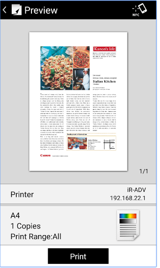 Canon PRINT Business android app