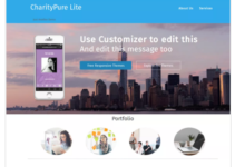 CharityPure WordPress Theme