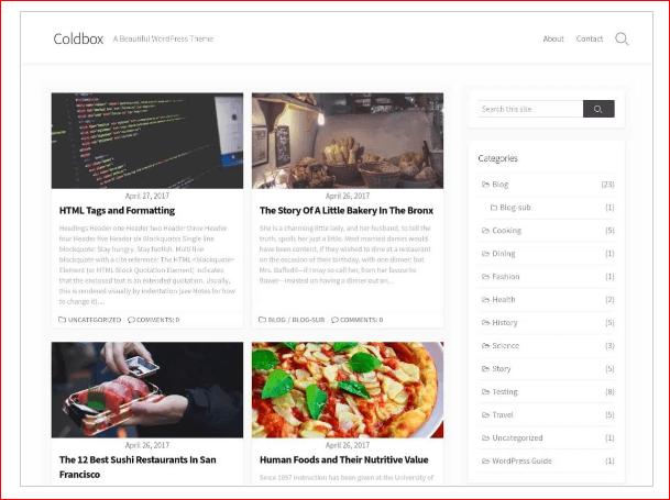 Coldbox WordPress Theme