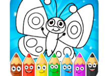 Coloring games app logo
