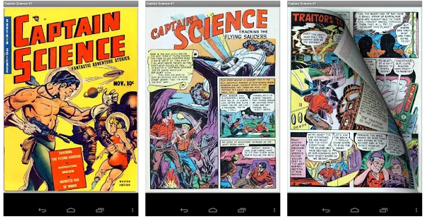 Comic Captain Science android app