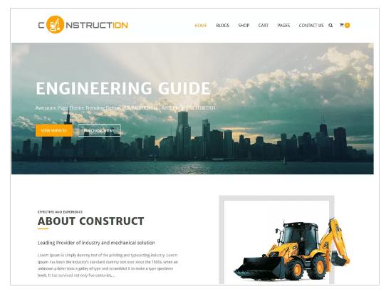 Construction Lite WordPress Theme