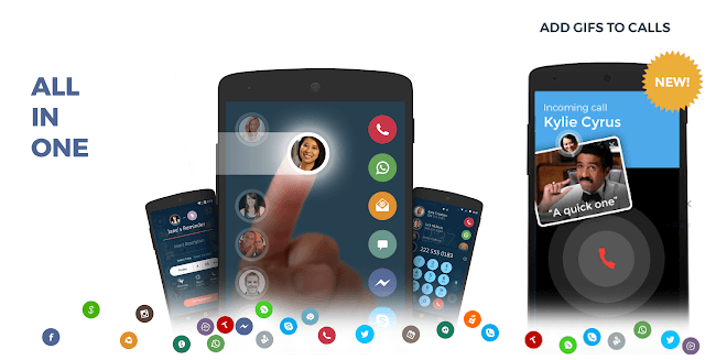 Contacts, Phone Dialer & Caller ID drupe android app