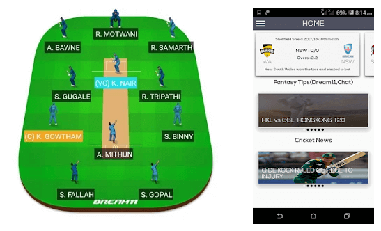 Cric Informer(Dream11,Myteam11 tips & IPL NEWS ) android app