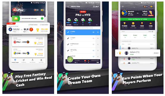CricPlay - Free Fantasy Cricket. Win Real Money. android app