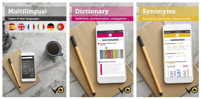 Dictionary education android app