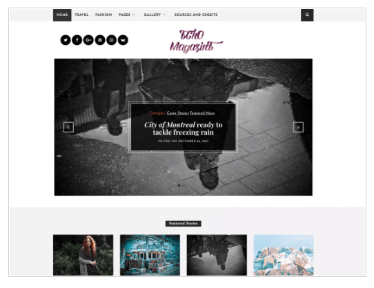 Echo Magazine WordPress Theme