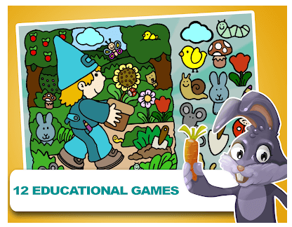 Educational games for kids android app
