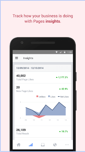 Facebook Pages Manager android app